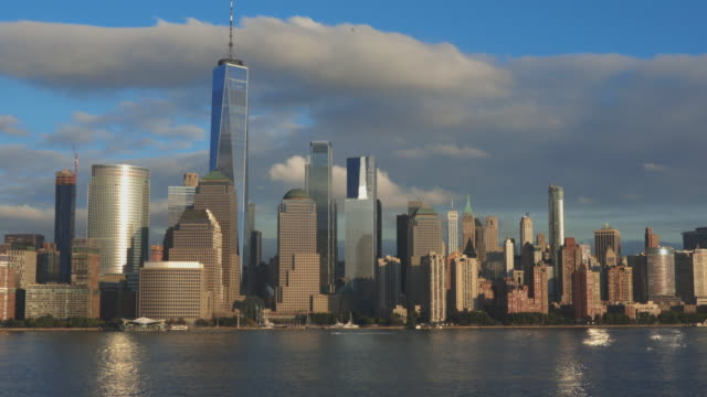 4K Video of New York City Lower Manhattan at Sunset