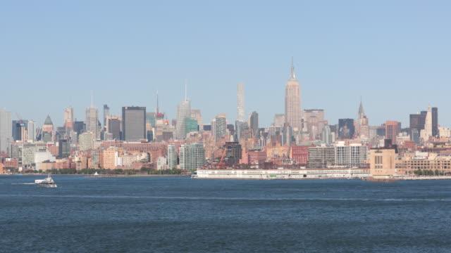 4K Video of New York City Upper Manhattan at Sunset