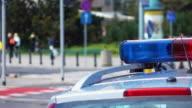 Video of police lights in 4K