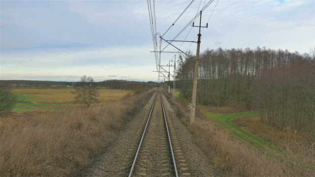 Video of railroad track in 4K