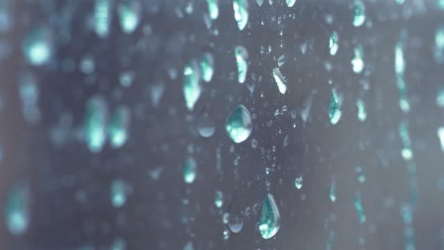 Video of rain drops in 4K