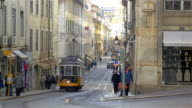 Video van de tram in Lissabon in 4K