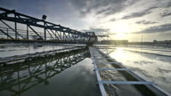 video of Water Treatment plant with sunrise