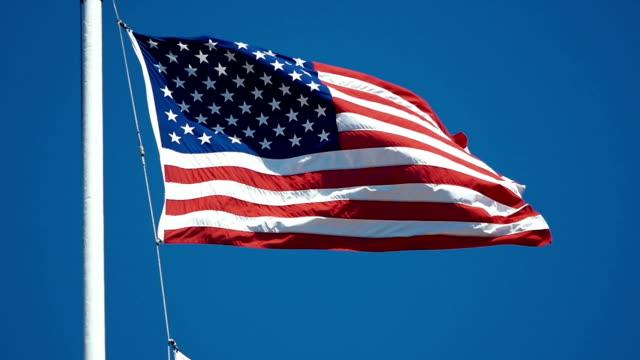Video van Waving Flag - U.S.A in slow motion