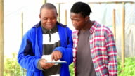Video portrait  African Organic Farmers with New technology