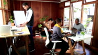 Video Portrait Cape Malay Woman in shared office space