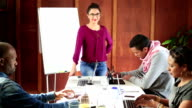 Video Portrait Dynamic Hispanic Woman Leadership