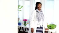 Video portrait of proud confident African female doctor