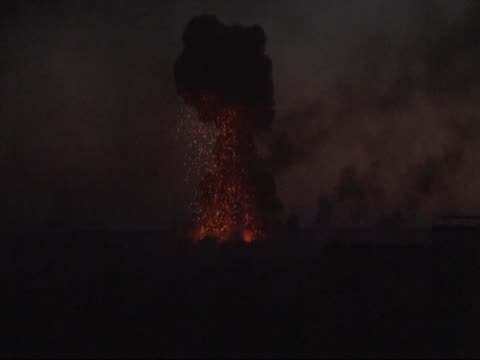 A video shot from Sanliurfa Turkey shows that smoke and flames rise after the Islamic State of Iraq and the Levant carried out a suicide attack with...