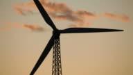 HD Video Sunrise renewable wind turbine Palm Springs California