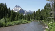 HD video Swiftcurrent Creek and Garden Wall Glacier National Park
