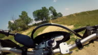 Videoclip Sequence of Motocross Motorcycle Offroad