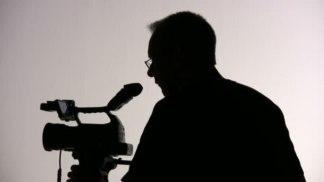 Videographer silhouette