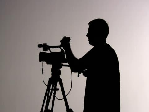Videograph Kameramann Shooting und Regeln; Silhouette