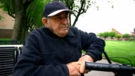 Videoportrait of 90-years-old senior man