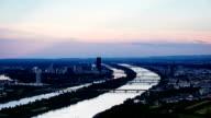 Wien bei Sonnenuntergang-Zeitraffer