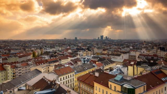 Wiener Stadtbild Zeitraffer