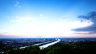 Wien vom Tag zur Nacht-Zeitraffer