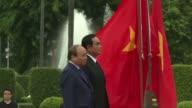 Vietnamese PM Nguyen Xuan Phuc makes an official visit to Thailand and meets counterpart Prayut Chan O Cha in Bangkok