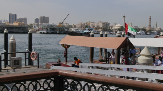 View across Dubai Creek, Bur Dubai, Dubai, United Arab Emirates, Middle East, Asia