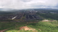 WS AERIAL View approach to Ouro Branco steel plant / Minas, Gerais Brazil