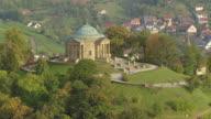 WS AERIAL ZI View approach tot Burial Chapel castle on Rotenberg / Stuttgart, Baden Wurttemberg