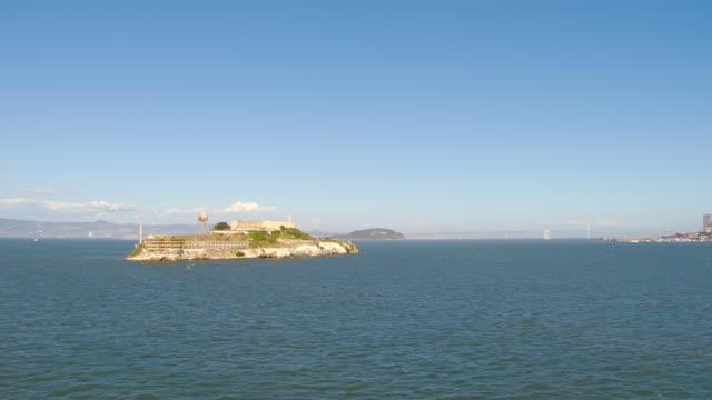 EWS DS AERIAL View around Alcatraz Island and prison complex / San Francisco, California, United States