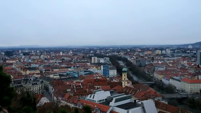 View at viewpoint Graz ,Austria