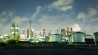 T/L MS View Chemical factory fumes / Tokyo, Japan