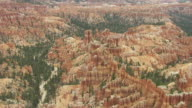 WS AERIAL TD View flying over hoodoos in Bryce canyon / Utah, United States