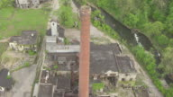 MS AERIAL View flying over Old Crow Distilling Company / Kentucky, United States