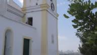 View for Church, Ferragudo, Algarve, Portugal, Europe