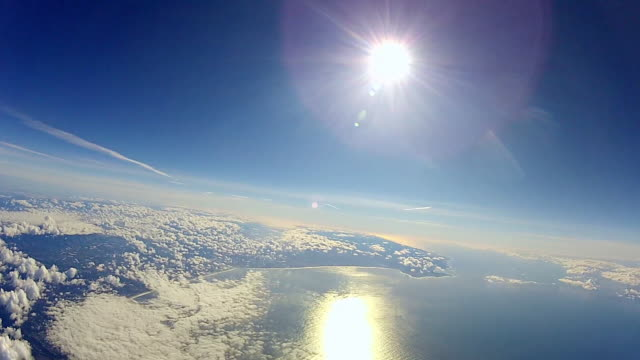 View from a balloon high up in the Earth's atmosphere