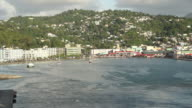 View from a cruise ship leaving Antigua