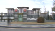 View from a moving car of the Presidential Palace in Ankara Turkey