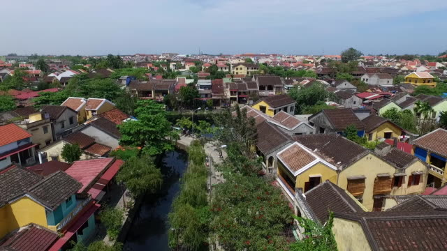 View from above of Hoi An ancient town. Hoi An is recognized as a world heritage site by UNESCO.