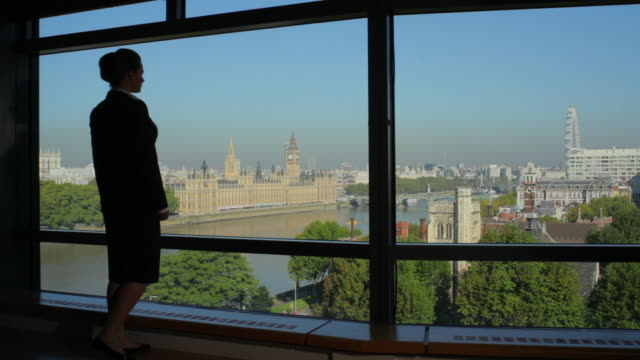 WS View from apartment to Houses of Parliament Westminster