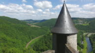 WS View from Bourscheid Castle to valley of river sure / Bourscheid, Diekirch, Luxembourg