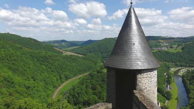 WS View from Bourscheid Castle to valley of river sure / Bourscheid, Diekirch, Luxembourg