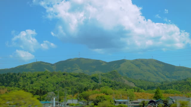 SIDE POV,View from bullet train. Japan