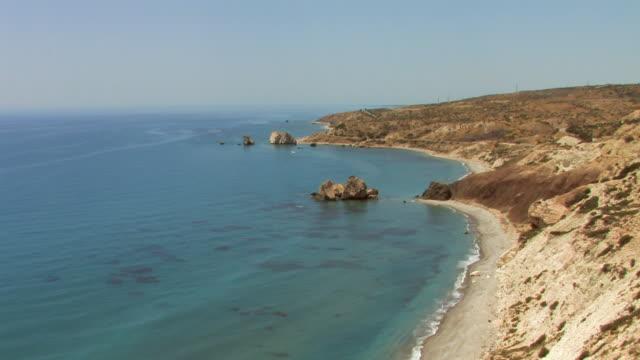 WS TU View from cliff Aphrodite beach / Cyprus