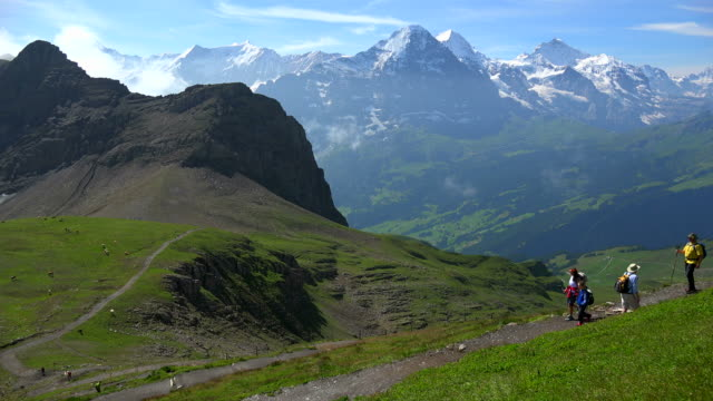View from Faulhorn to Eiger, Munch and Jungfrau, Bernese Alps, Switzerland, Europe