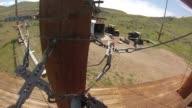KSTU View from GoPro Camera of Hand Moving Carabiner Along Zipline Rope at Zipline Utah at Deer Creek Reservoir in Salt Lake City Utah on May 18 2017