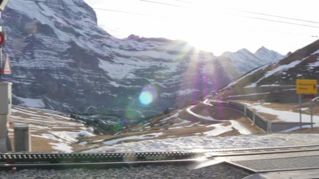 View from Kleine Scheidegg, Jungfrau region, Bernese Oberland, Swiss Alps, Switzerland, Europe
