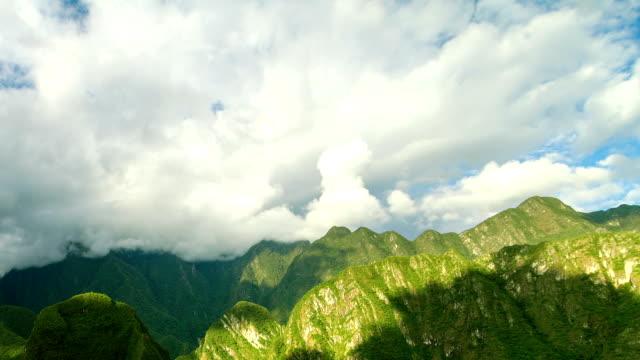Uitzicht vanaf het Machu Picchu Timelapse