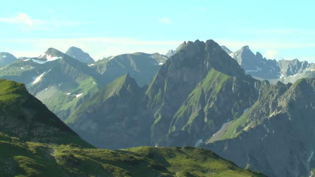 WS View from Mount Nebelhorn to Hofats, Allgau Alps / Oberstdorf, Bavaria, Germany