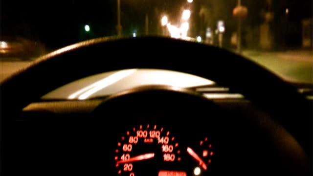 Blick aus dem Auto durch die Stadt