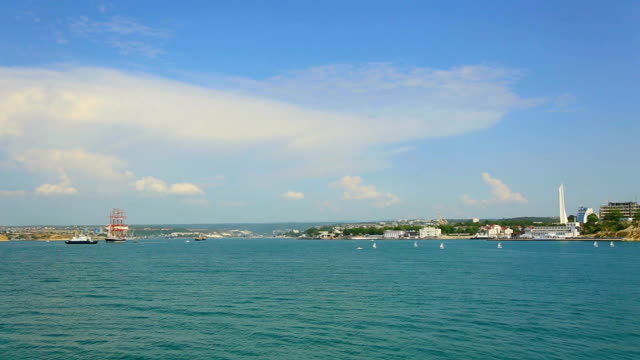 view from the sea of Sevastopol Bay