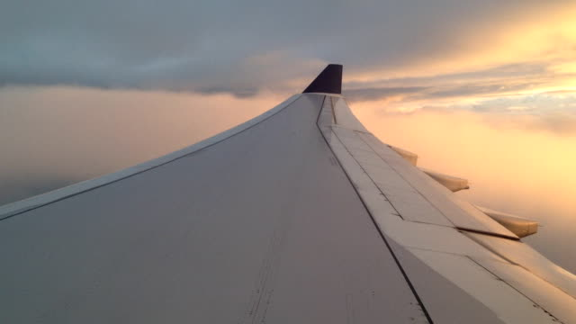 A view from the wing of a plane.