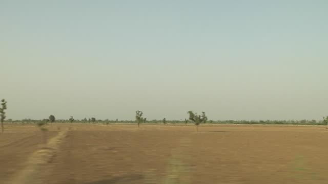 View From Train Nagaur Rajasthan India
